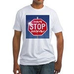 DON'T STOP BELIEVING Fitted T-Shirt