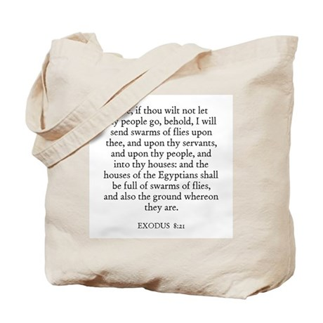 EXODUS 8:21 Tote Bag