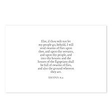 EXODUS  8:21 Postcards (Package of 8)