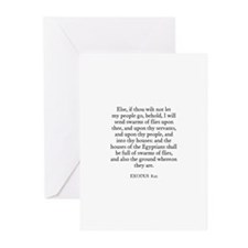 EXODUS  8:21 Greeting Cards (Pk of 10)