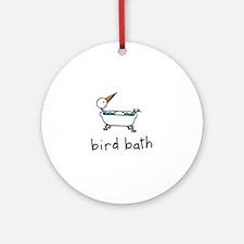 Bird Bath Ornament (Round)