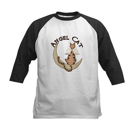 Angel Cat Kids Baseball Jersey