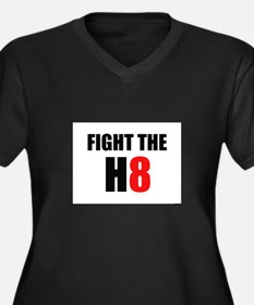 Prop 8 - Fight the H8 (hate) Women's Plus Size V-N