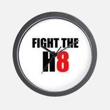 Prop 8 - Fight the H8 (hate) Wall Clock