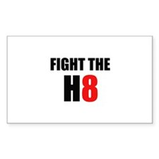 Prop 8 - Fight the H8 (hate) Rectangle Decal