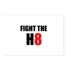 Prop 8 - Fight the H8 (hate) Postcards (Package of