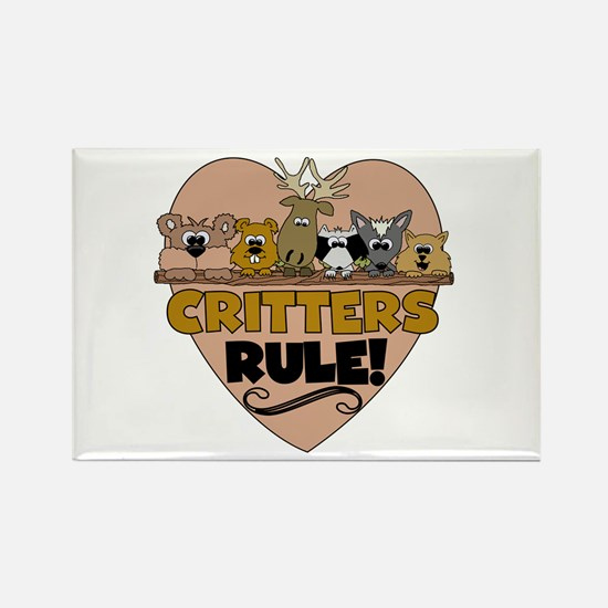 Critters Rule Rectangle Magnet