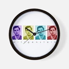 Wittgensteins (in Color) Wall Clock