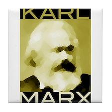 Karl Marx Tile Coaster