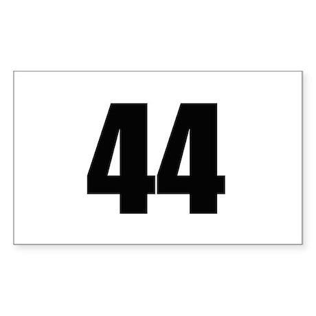 Barack Obama - 44 Rectangle Sticker