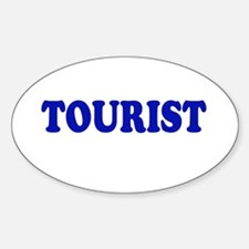 Tourist Oval Decal