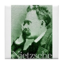 Green Nietzsche Tile Coaster
