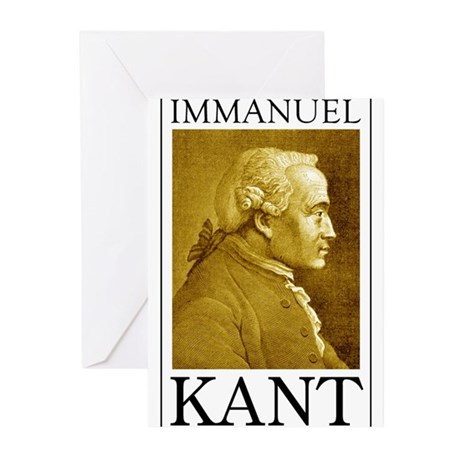 Immanuel Kant Greeting Cards (Pk of 20)