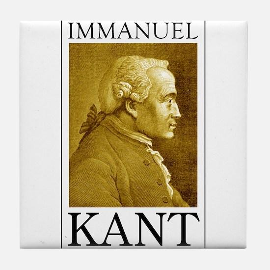 Immanuel Kant Tile Coaster