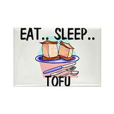 Eat ... Sleep ... TOFU Rectangle Magnet