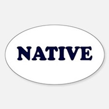 Native Oval Decal