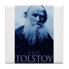 Leo Tolstoy Tile Coaster