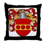 Nellen Family Crest Throw Pillow