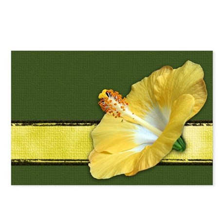 Yellow Hibiscus Postcards (Package of 8)