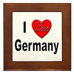 I Love Germany Framed Tile