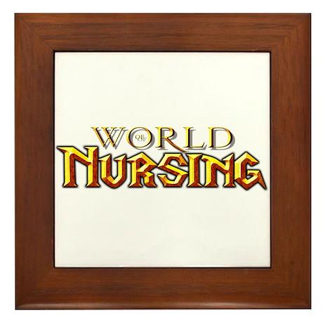 World of Nursing Framed Tile