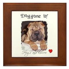 SWEET DOG LOOK Framed Tile
