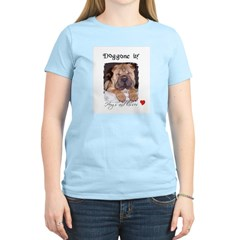 SWEET DOG LOOK Women's Pink T-Shirt