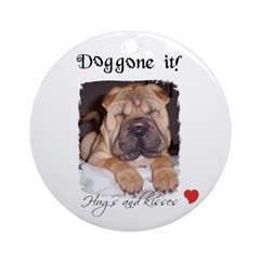 SWEET DOG LOOK Ornament (Round)
