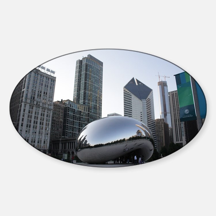 Chicago, Illinois Oval Decal