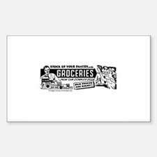 Stock Up With Groceries Rectangle Decal