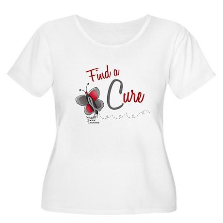Find A Cure 1 Butterfly 2 PD Women's Plus Size Sco