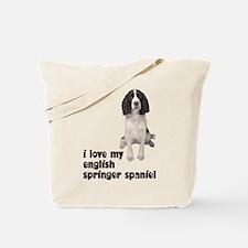 I Love My Springer Spaniel Tote Bag