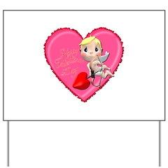 Pink Valentine Heart Yard Sign