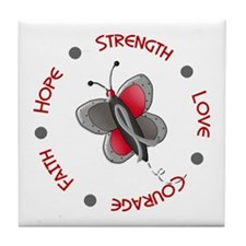 Hope Courage 1 Butterfly 2 PD Tile Coaster