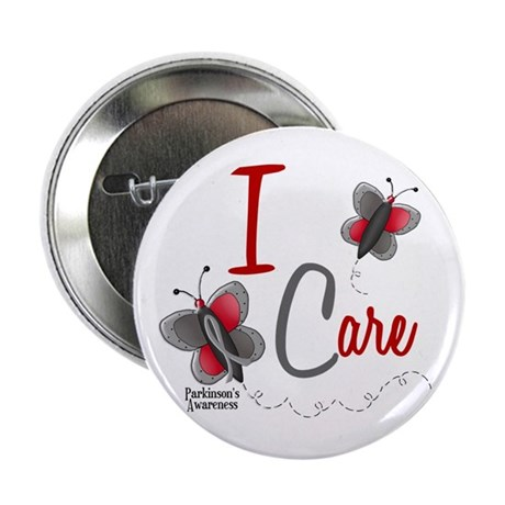 """I Care 1 Butterfly 2 PD 2.25"""" Button"""
