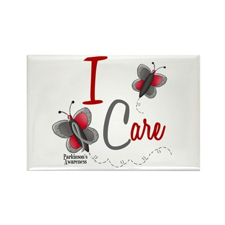 I Care 1 Butterfly 2 PD Rectangle Magnet
