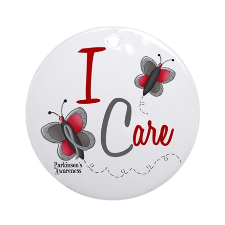 I Care 1 Butterfly 2 PD Ornament (Round)