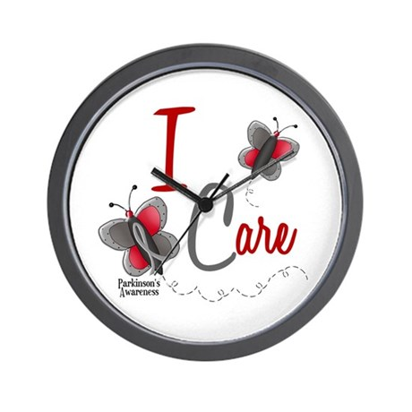 I Care 1 Butterfly 2 PD Wall Clock