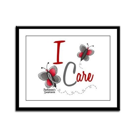 I Care 1 Butterfly 2 PD Framed Panel Print