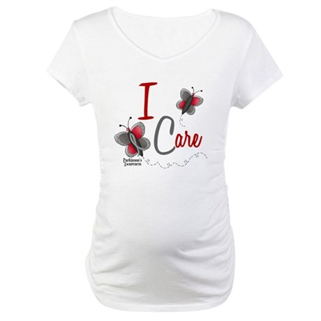 I Care 1 Butterfly 2 PD Maternity T-Shirt