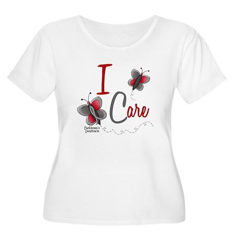 I Care 1 Butterfly 2 PD Women's Plus Size Scoop Ne