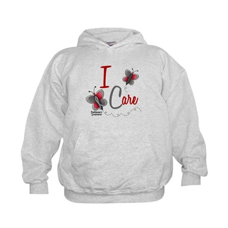 I Care 1 Butterfly 2 PD Kids Hoodie