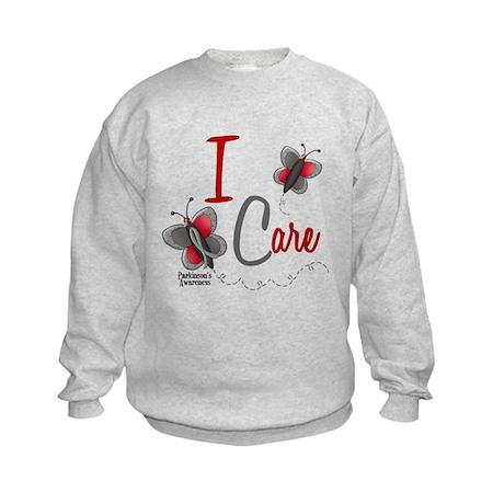 I Care 1 Butterfly 2 PD Kids Sweatshirt