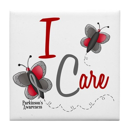 I Care 1 Butterfly 2 PD Tile Coaster