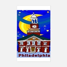 Starry Night Philadelphia Rectangle Decal