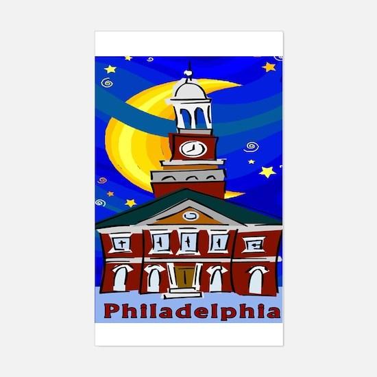Starry Night Philadelphia Rectangle Decal