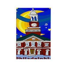 Starry Night Philadelphia Rectangle Magnet