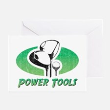 Golf Power Tools Greeting Cards (Pk of 10)