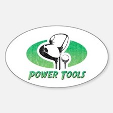 Golf Power Tools Oval Decal