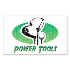 Golf Power Tools Rectangle Decal